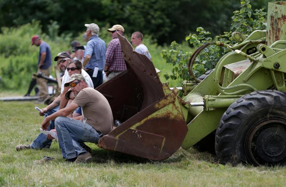 Potential buyers attended the Grant family farm auction.